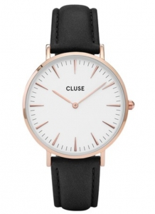 Zegarek Cluse La Boheme Rose Gold White/Black