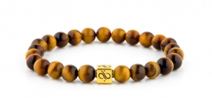Bransoletka Aurum Brothers Minimal Gold Tiger Eye