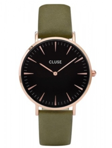 Zegarek Cluse La Boheme Rose Gold Black/Olive Green