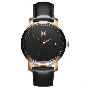 Zegarek MVMT Rose Gold/Black Leather