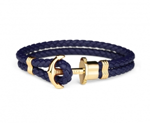 Bransoletka Paul Hewitt Gold Navy Blue