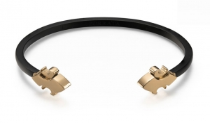 Bransoletka Zorrata Fleur De Lis Bangle - Matte Black