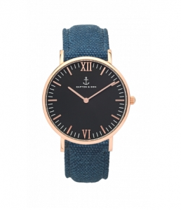 Zegarek Kapten Black Blue Canvas