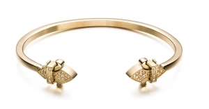 Bransoletka Zorrata Fleur De Lis Bangle - White