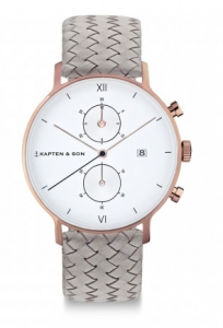 Zegarek Kapten Chrono Grey Woven Leather
