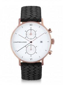 Zegarek Kapten Chrono Black Woven Leather