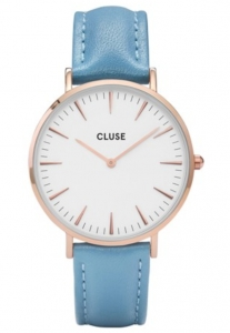 Zegarek Cluse La Boheme Rose Gold White/Retro Blue