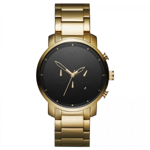 Zegarek MVMT Chrono Black Gold Link