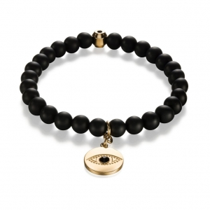 Bransoletka Zorrata Gold Evil Eye - Black