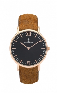 Zegarek Kapten Black Brown Vintage Leather