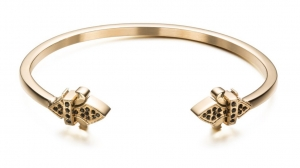 Bransoletka Zorrata Fleur De Lis Bangle - Black