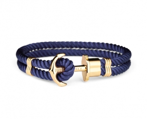 Bransoletka Paul Hewitt Gold Nylon Dark Blue