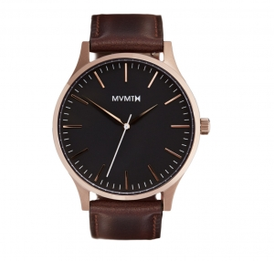 Zegarek MVMT The 40 - Rose Gold/Brown Leather