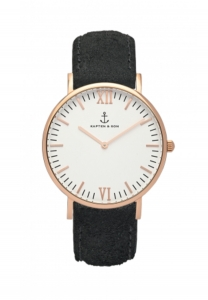 Zegarek Kapten Black Vintage Leather