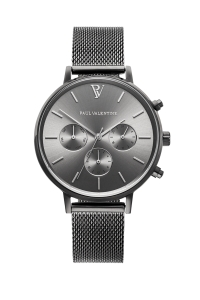 Zegarek Paul Valentine Graphite Mesh Multifunctional