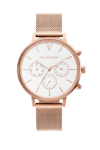 Zegarek Paul Valentine Marina Rose Gold Mesh Multifunctional