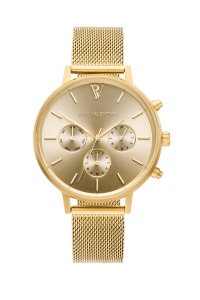 Zegarek Paul Valentine Gold Melrose Mesh Multifunctional