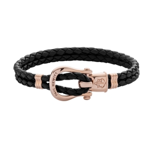 Bransoletka Paul Hewitt PHINITY Rose Gold Black