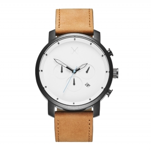 Zegarek MVMT Chrono White Black Tan