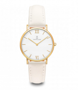Zegarek Kapten Joy White Velvet Leather
