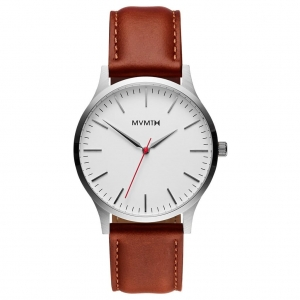 Zegarek MVMT The 40 - Silver/Natural Leather