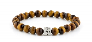 Bransoletka Aurum Brothers Minimal Silver Tiger Eye