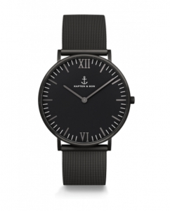 Zegarek Kapten Black Midnight Mesh