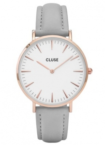 Zegarek Cluse La Boheme Rose Gold White/Grey