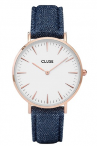 Zegarek Cluse La Boheme Rose Gold White/Blue Denim